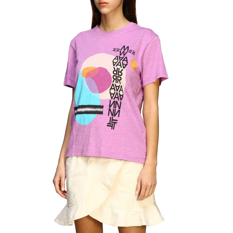 Isabel Marant Etoile T-Shirt mit Prints violett 4