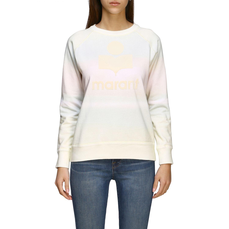 Isabel Marant Etoile Sweatshirt mit Rundhalsausschnitt und Logo gelb 1