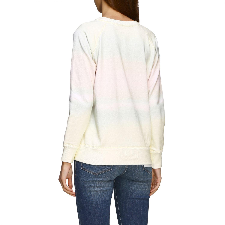 Isabel Marant Etoile Sweatshirt mit Rundhalsausschnitt und Logo gelb 3