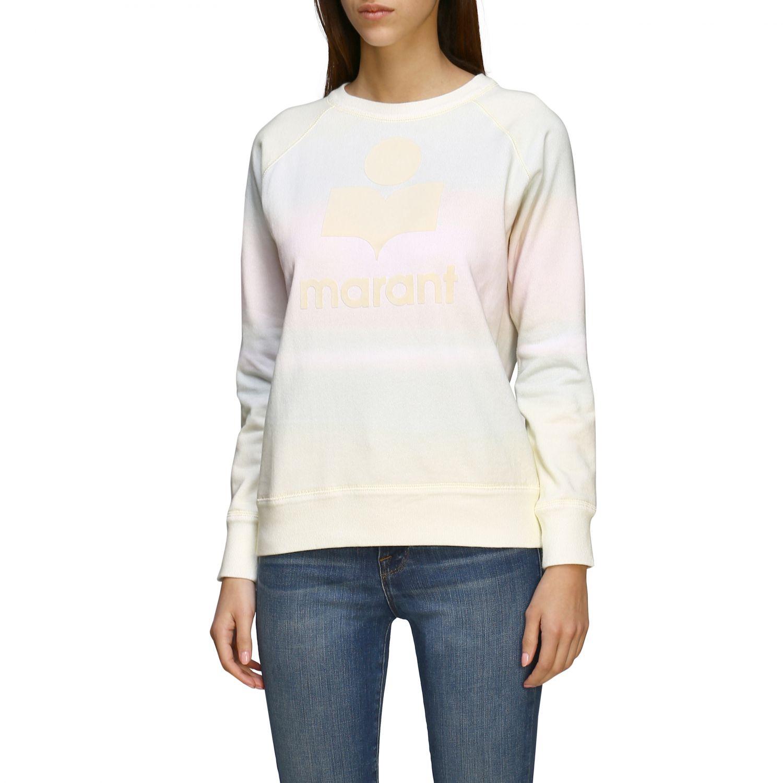 Isabel Marant Etoile Sweatshirt mit Rundhalsausschnitt und Logo gelb 4