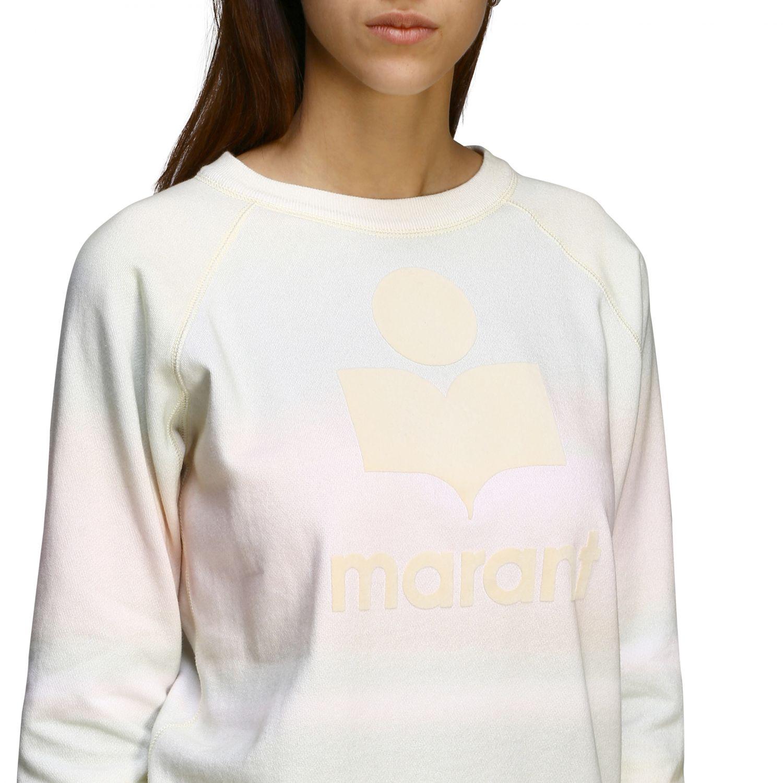 Isabel Marant Etoile Sweatshirt mit Rundhalsausschnitt und Logo gelb 5