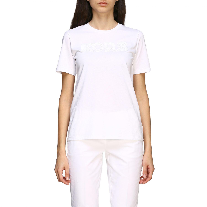 T-shirt Michael Michael Kors con logo di paillettes bianco 1