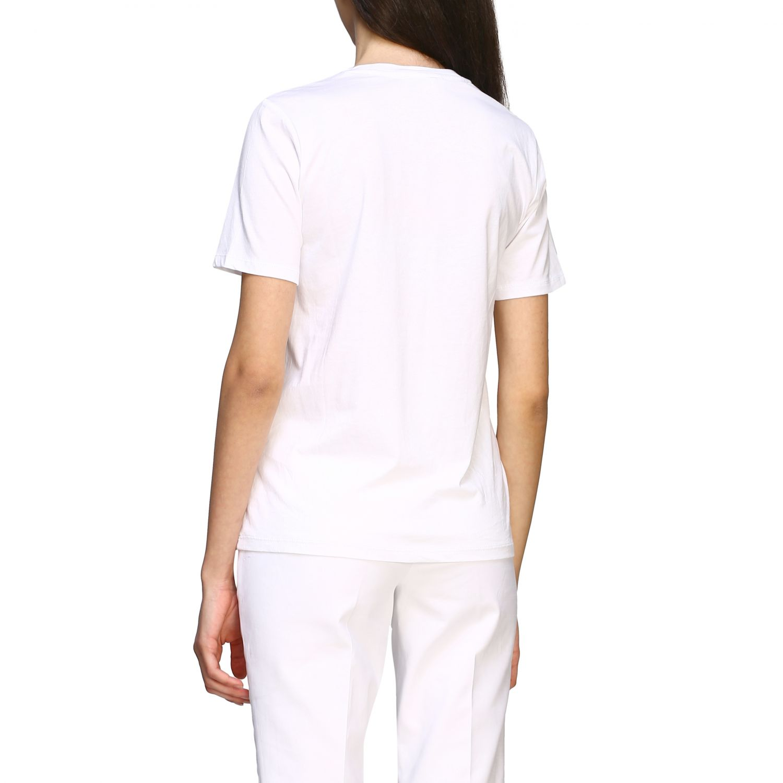 T-shirt Michael Michael Kors con logo di paillettes bianco 3