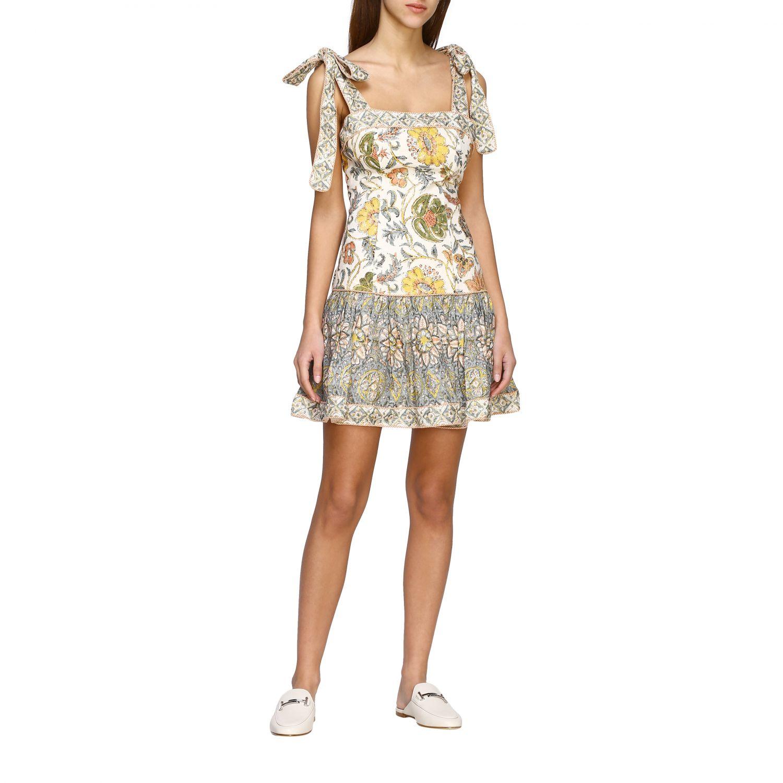Robes Zimmermann: Robe Zimmermann à motif floral ancien multicolore 1