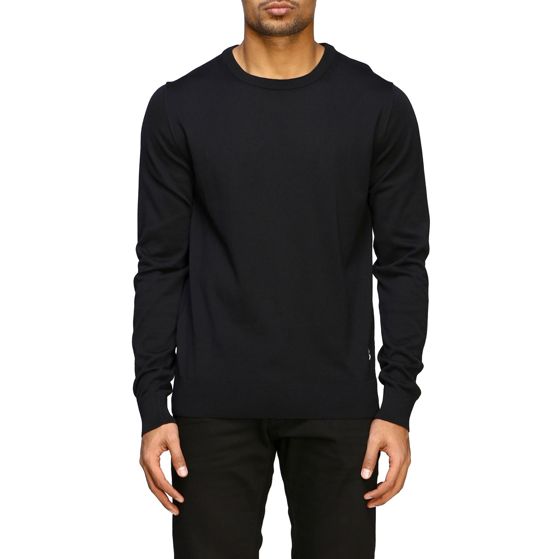 Sweater Balmain: Balmain basic crew neck sweater with mini logo black 1