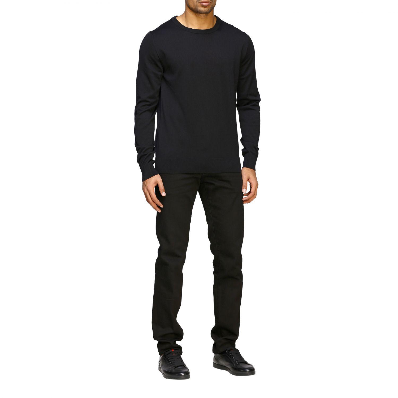 Sweater Balmain: Balmain basic crew neck sweater with mini logo black 2