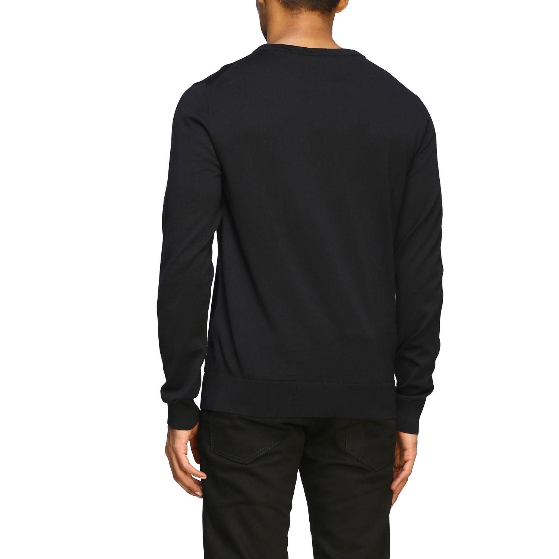 Sweater Balmain: Balmain basic crew neck sweater with mini logo black 3