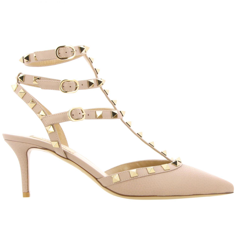 Heeled sandals women Valentino Garavani beige 1