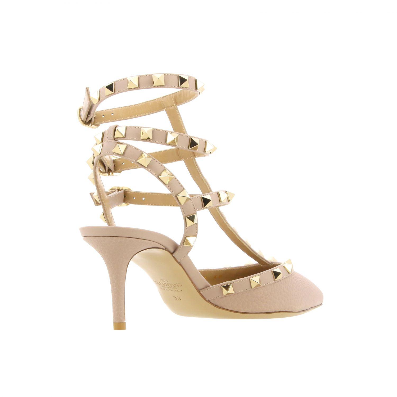 Heeled sandals women Valentino Garavani beige 4