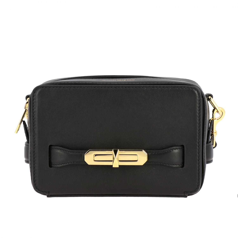 Mini bag Alexander Mcqueen: Mcq Mcqueen leather shoulder bag with metal hook red 1