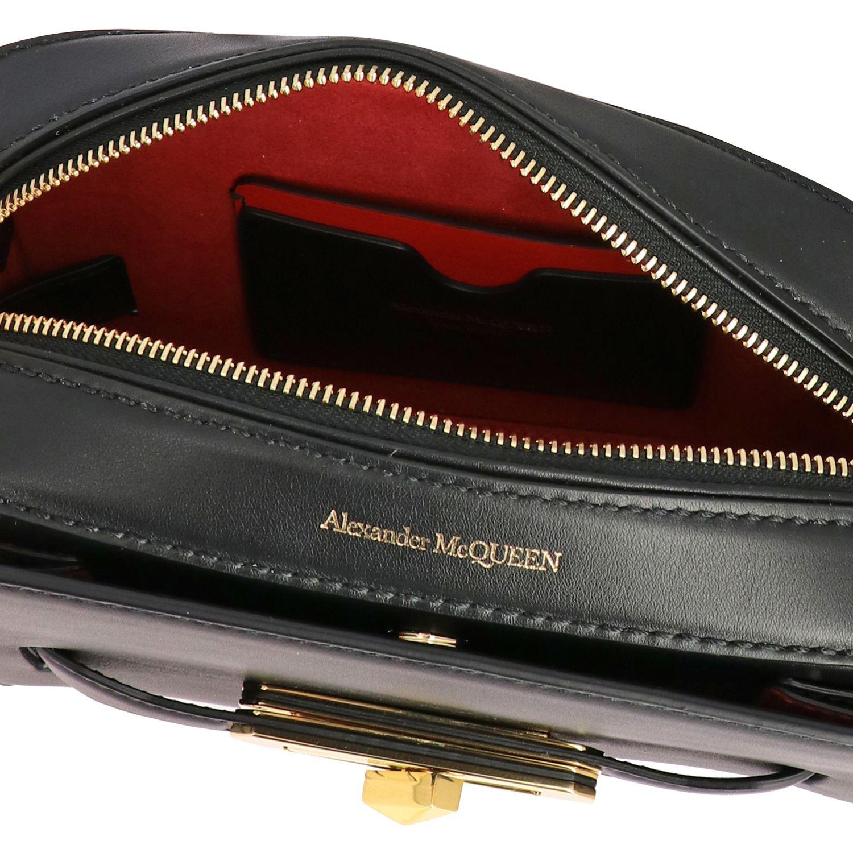 Мини-сумка Alexander Mcqueen: Сумка Mcq Mcqueen из кожи с металлической пряжкой черный 5