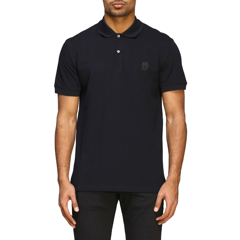 Polo shirt Alexander Mcqueen: Alexander Mcqueen short-sleeved polo shirt with skull black 1