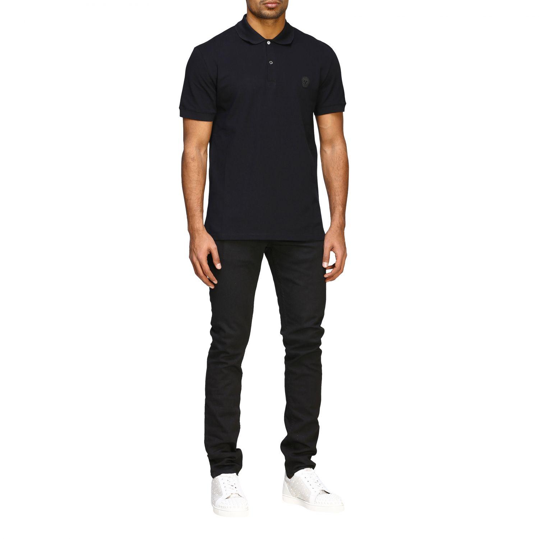 Polo shirt Alexander Mcqueen: Alexander Mcqueen short-sleeved polo shirt with skull black 2
