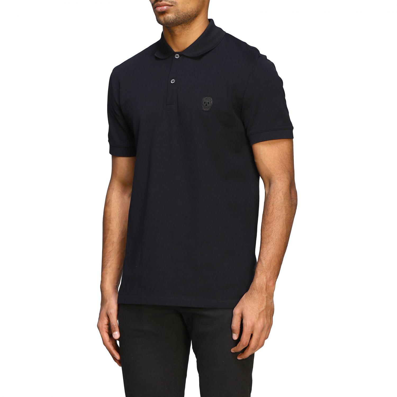 Polo shirt Alexander Mcqueen: Alexander Mcqueen short-sleeved polo shirt with skull black 4