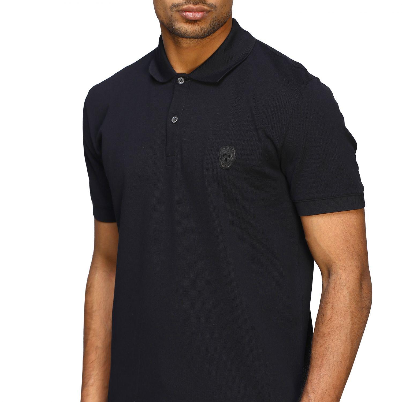 Polo shirt Alexander Mcqueen: Alexander Mcqueen short-sleeved polo shirt with skull black 5