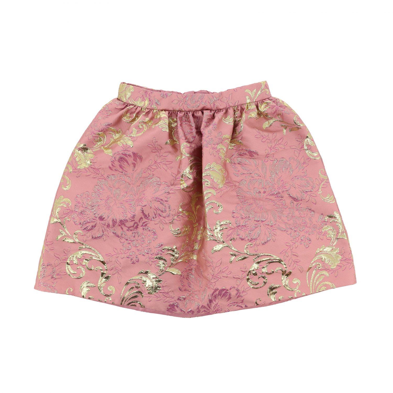 Gonna Dolce & Gabbana: Gonna Dolce & Gabbana ampia in broccato rosa 1