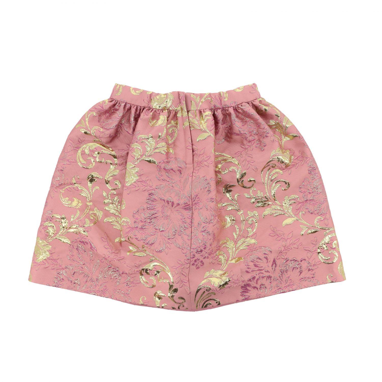 Gonna Dolce & Gabbana: Gonna Dolce & Gabbana ampia in broccato rosa 2
