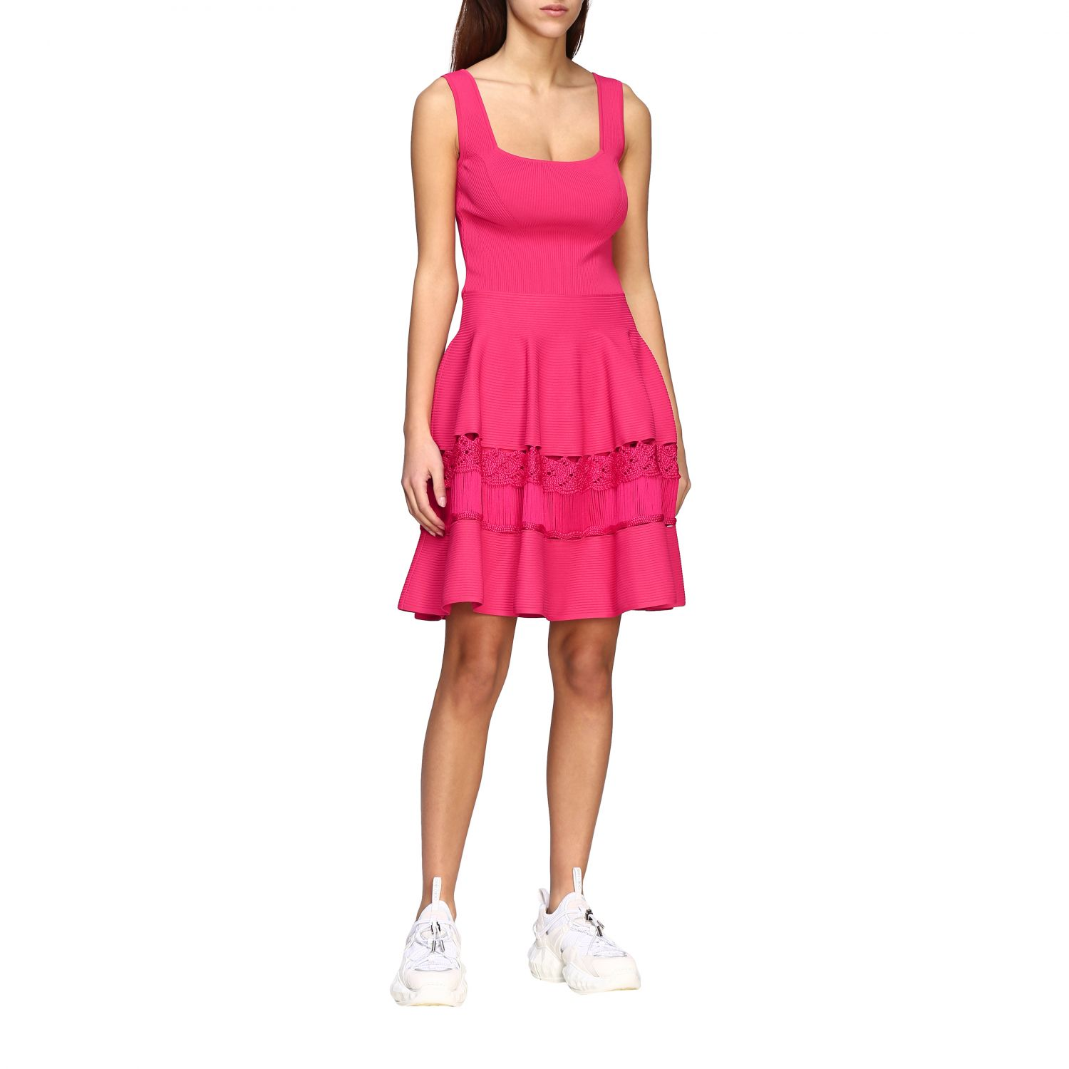 Dress Alexander Mcqueen: Dress women Alexander Mcqueen fuchsia 1