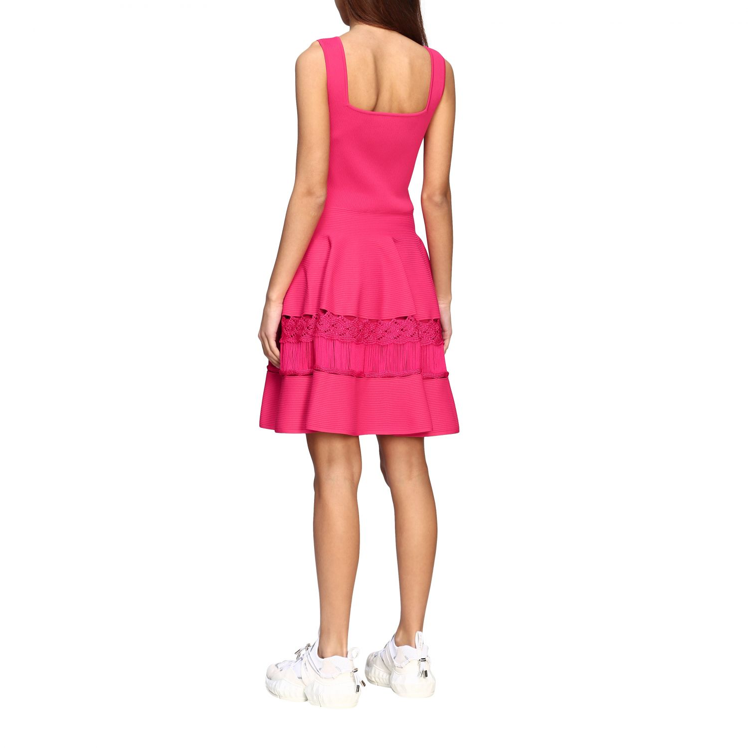 Dress Alexander Mcqueen: Dress women Alexander Mcqueen fuchsia 2