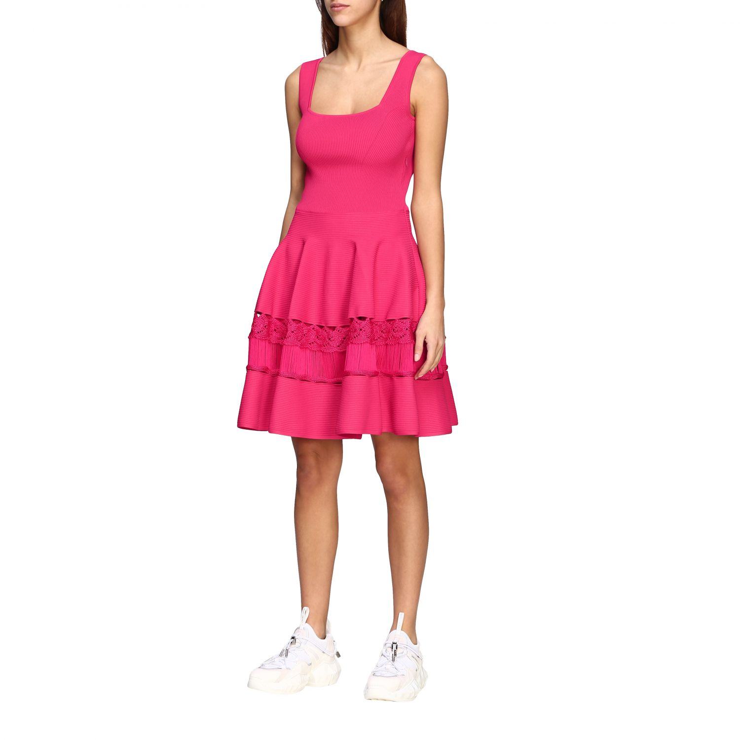 Dress Alexander Mcqueen: Dress women Alexander Mcqueen fuchsia 3