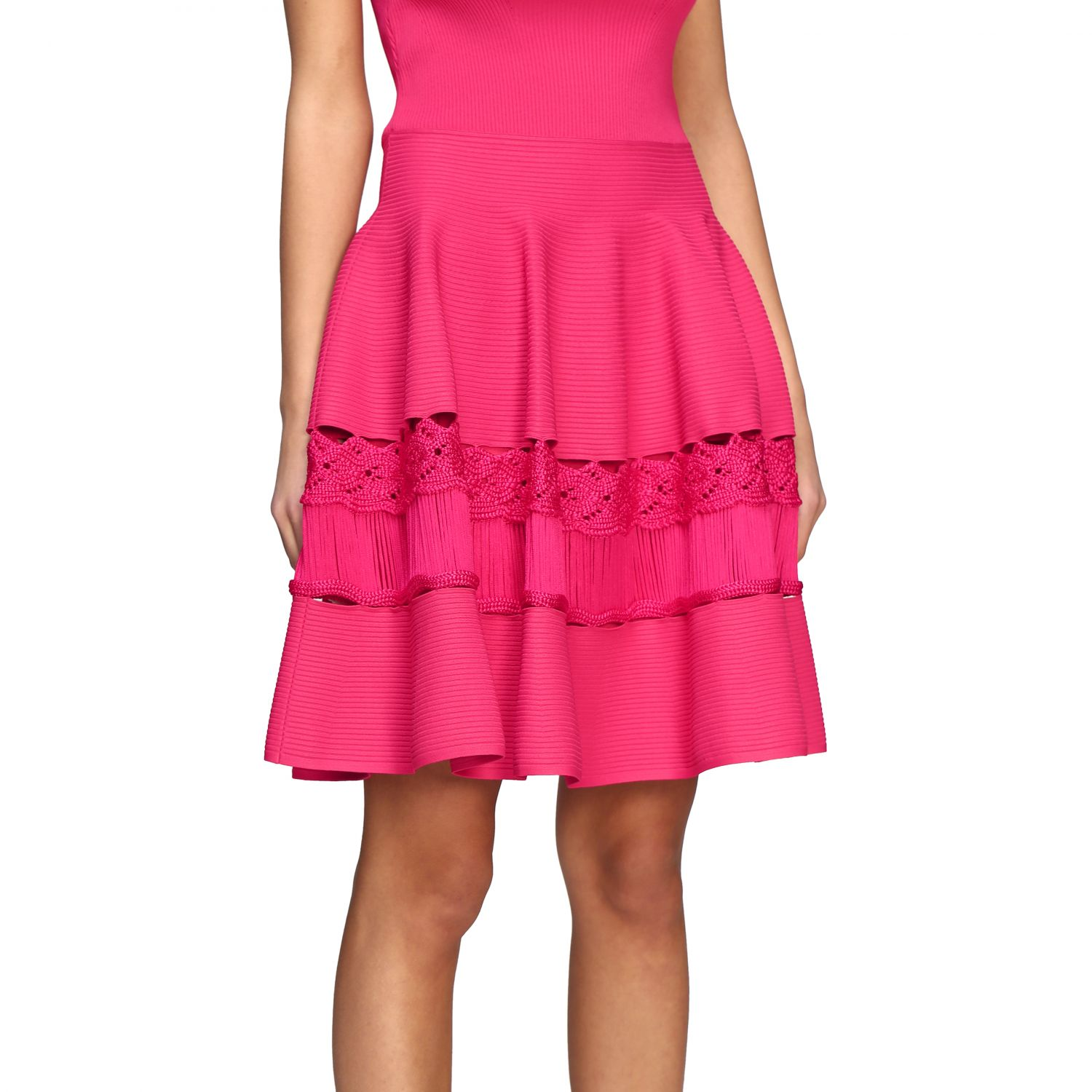 Dress Alexander Mcqueen: Dress women Alexander Mcqueen fuchsia 4