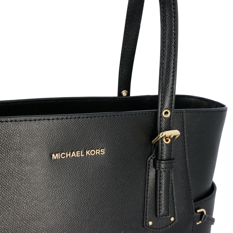 Borsa Voyager Michael Michael Kors in pelle nero 4