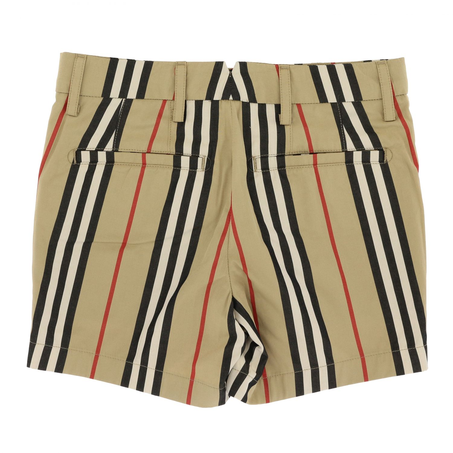 Classic vintage striped Burberry shorts beige 2