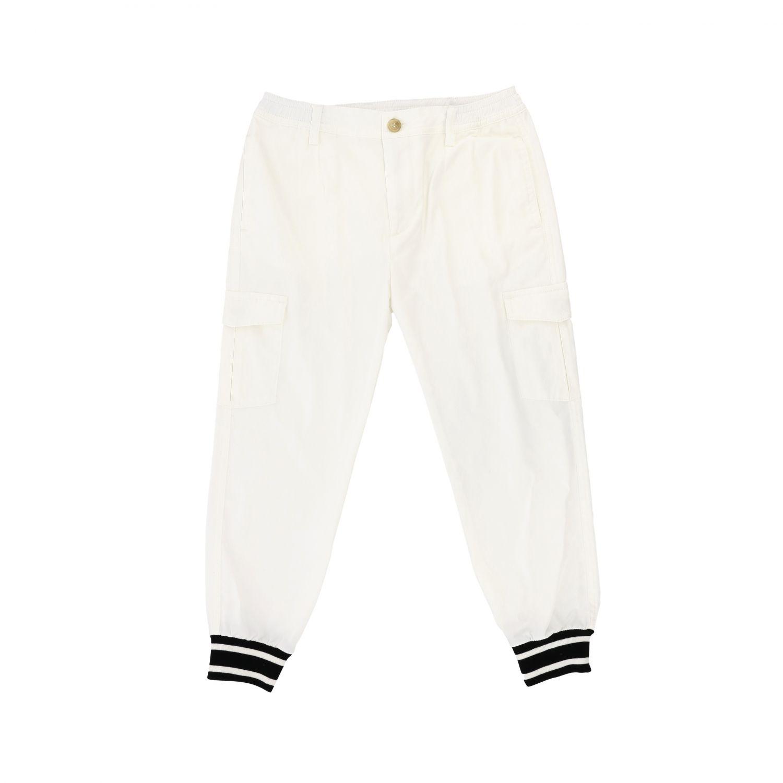 Pantalone Dolce & Gabbana: Pantalone Dolce & Gabbana casual con polsini sul fondo bianco 1