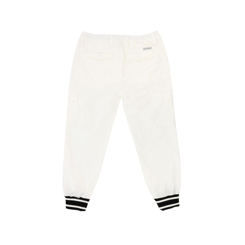 Pantalone Dolce & Gabbana: Pantalone Dolce & Gabbana casual con polsini sul fondo bianco 2