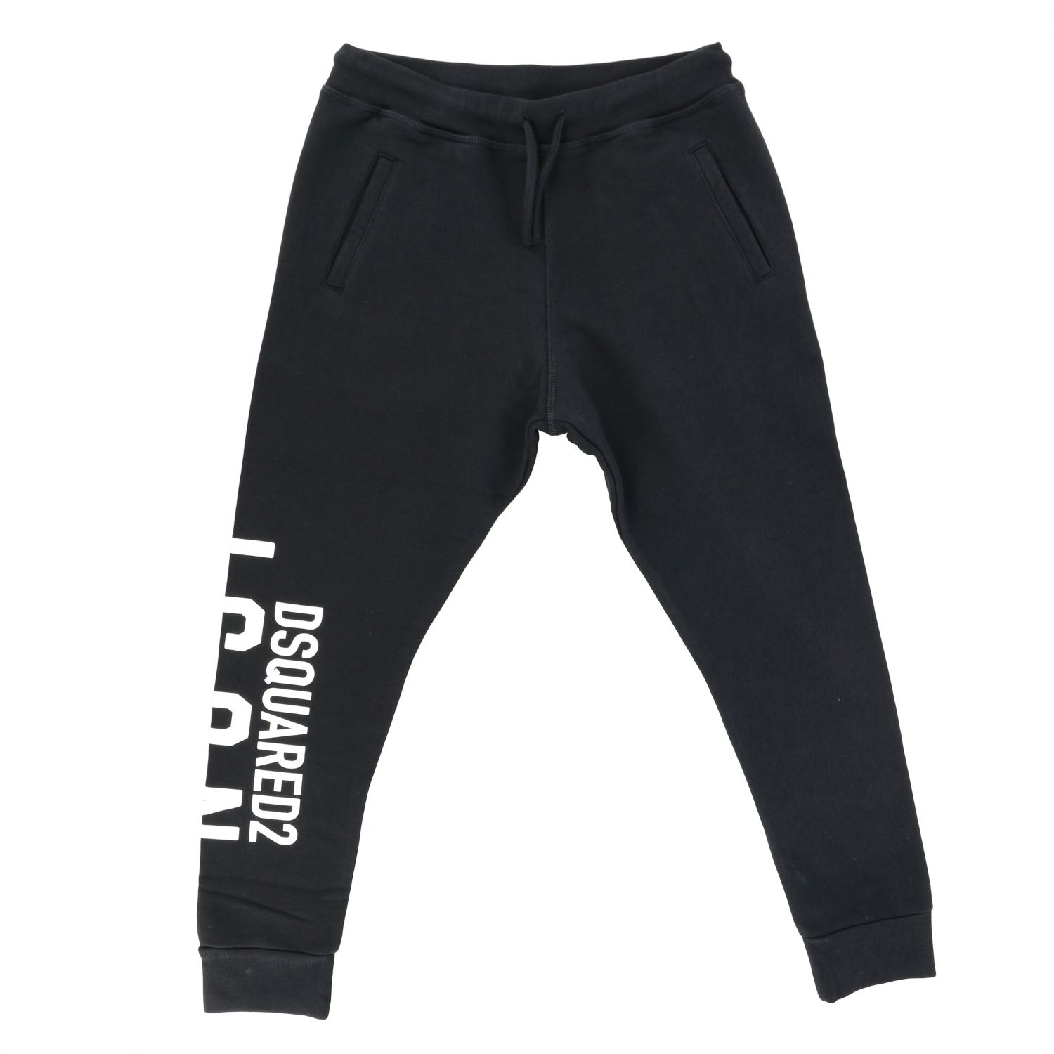 Pantalone Dsquared2 Junior: Pantalone Dsquared2 Junior jogging con logo nero 1
