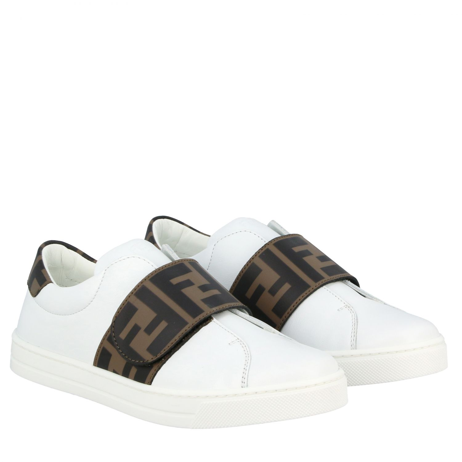 Fendi leather sneakers with FF Fendi