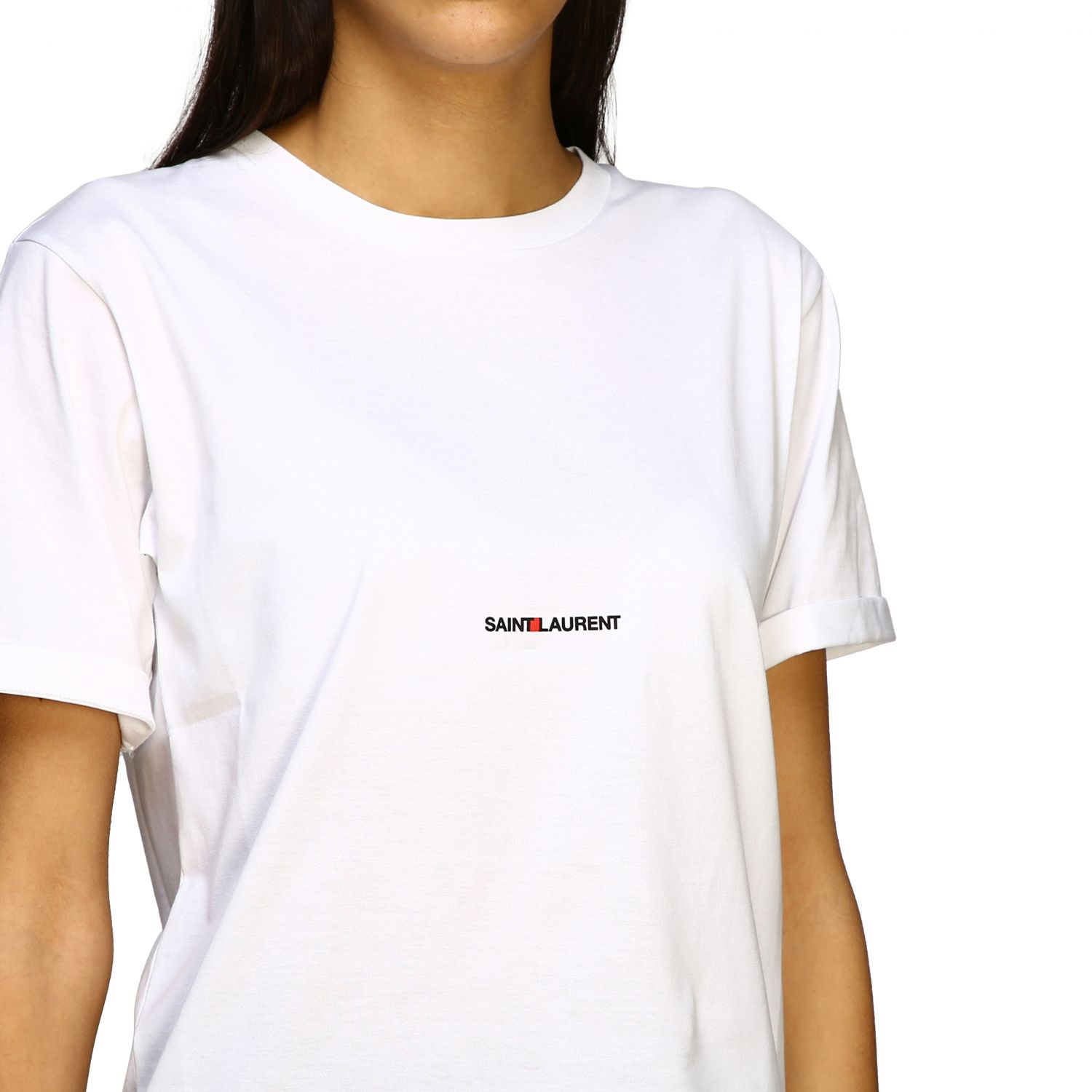 Saint Laurent T-Shirt mit Logo weiß 5
