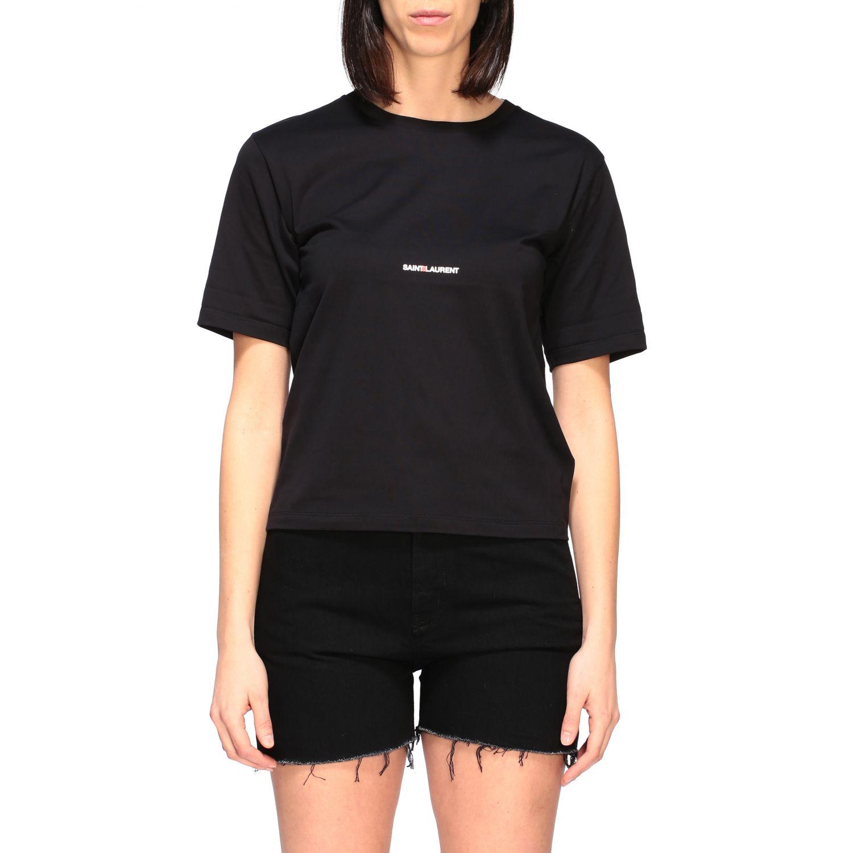 Saint Laurent T-Shirt mit Logo schwarz 1