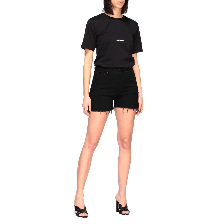 Saint Laurent T-Shirt mit Logo schwarz 2