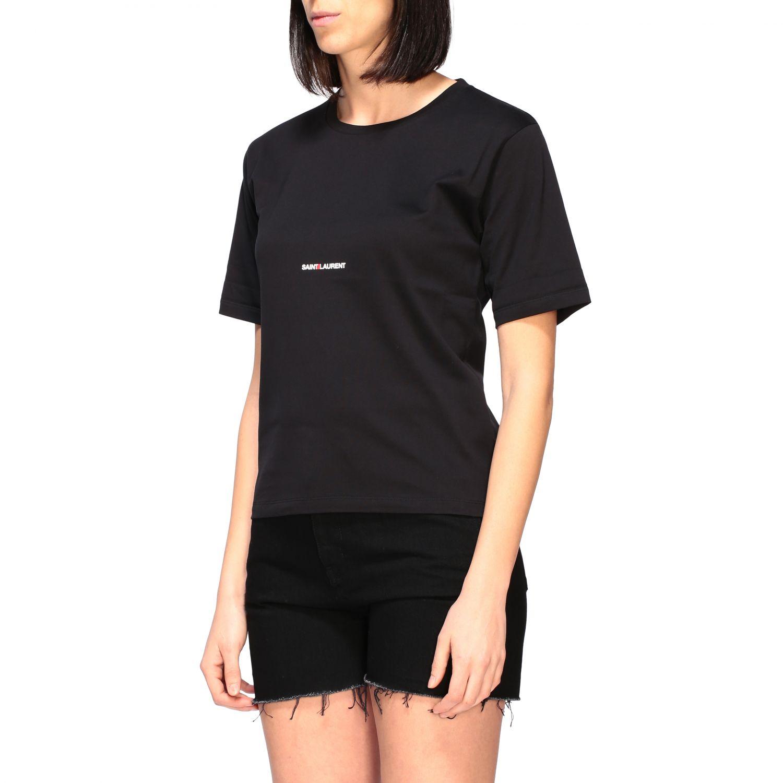 Saint Laurent T-Shirt mit Logo schwarz 4