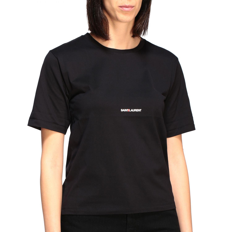 Saint Laurent T-Shirt mit Logo schwarz 5