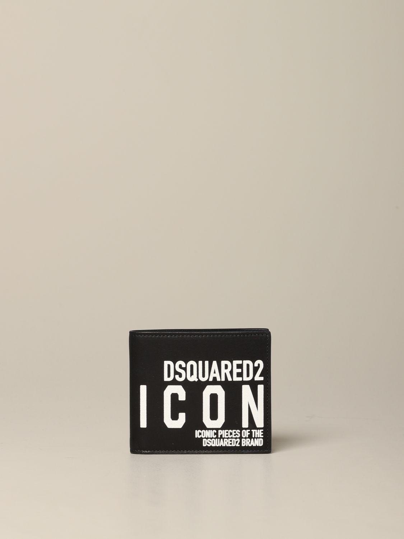 Portefeuille Dsquared2 avec imprimé Icon noir 1