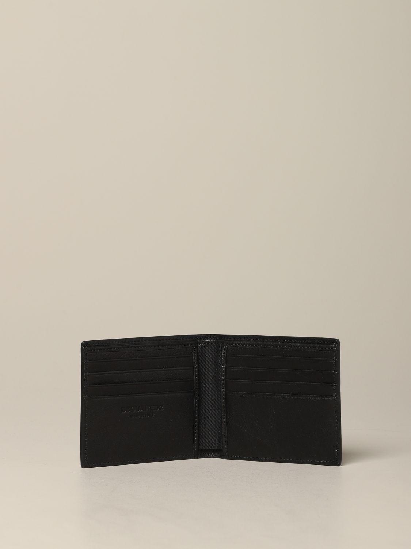 Portefeuille Dsquared2 avec imprimé Icon noir 2