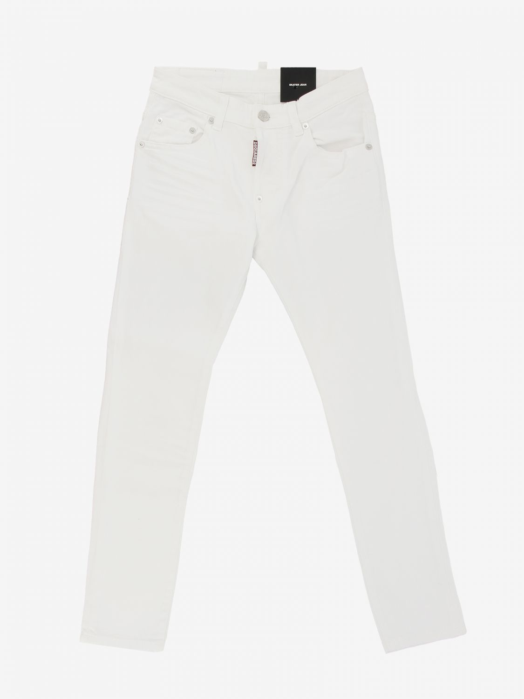 Jeans Dsquared2 Junior: Jeans Dsquared2 Junior a 5 tasche bianco 1