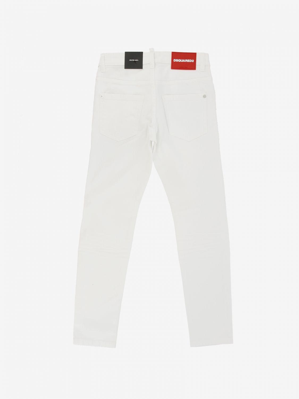 Jeans Dsquared2 Junior: Jeans Dsquared2 Junior a 5 tasche bianco 2