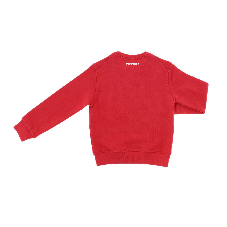Maglia Dsquared2 Junior: Felpa Dsquared2 Junior a girocollo con logo rosso 2