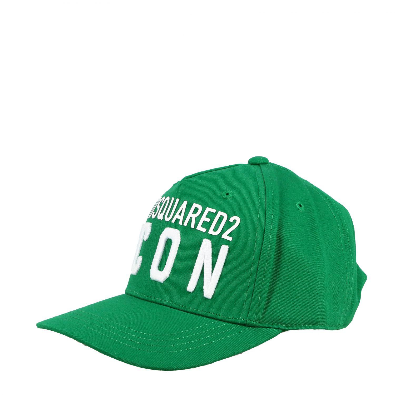 Cappello bambino Dsquared2 Junior: Cappello Dsquared2 Junior stile baseball con logo Icon verde 1
