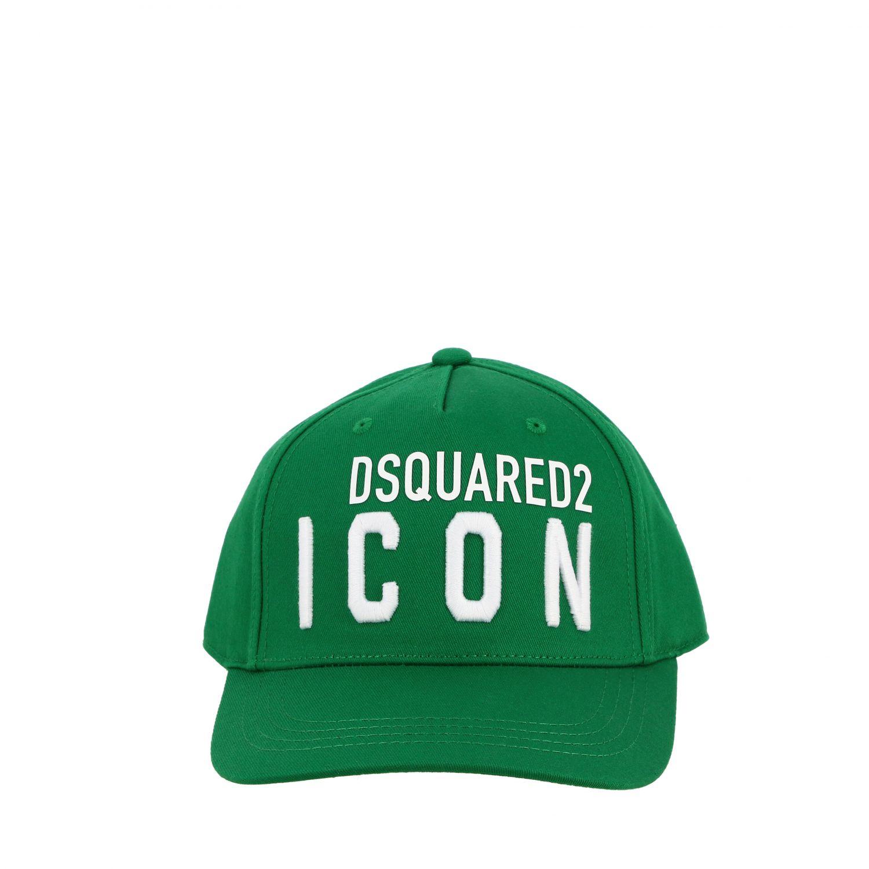 Cappello bambino Dsquared2 Junior: Cappello Dsquared2 Junior stile baseball con logo Icon verde 2