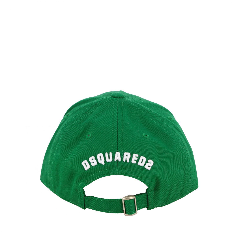 Cappello bambino Dsquared2 Junior: Cappello Dsquared2 Junior stile baseball con logo Icon verde 3