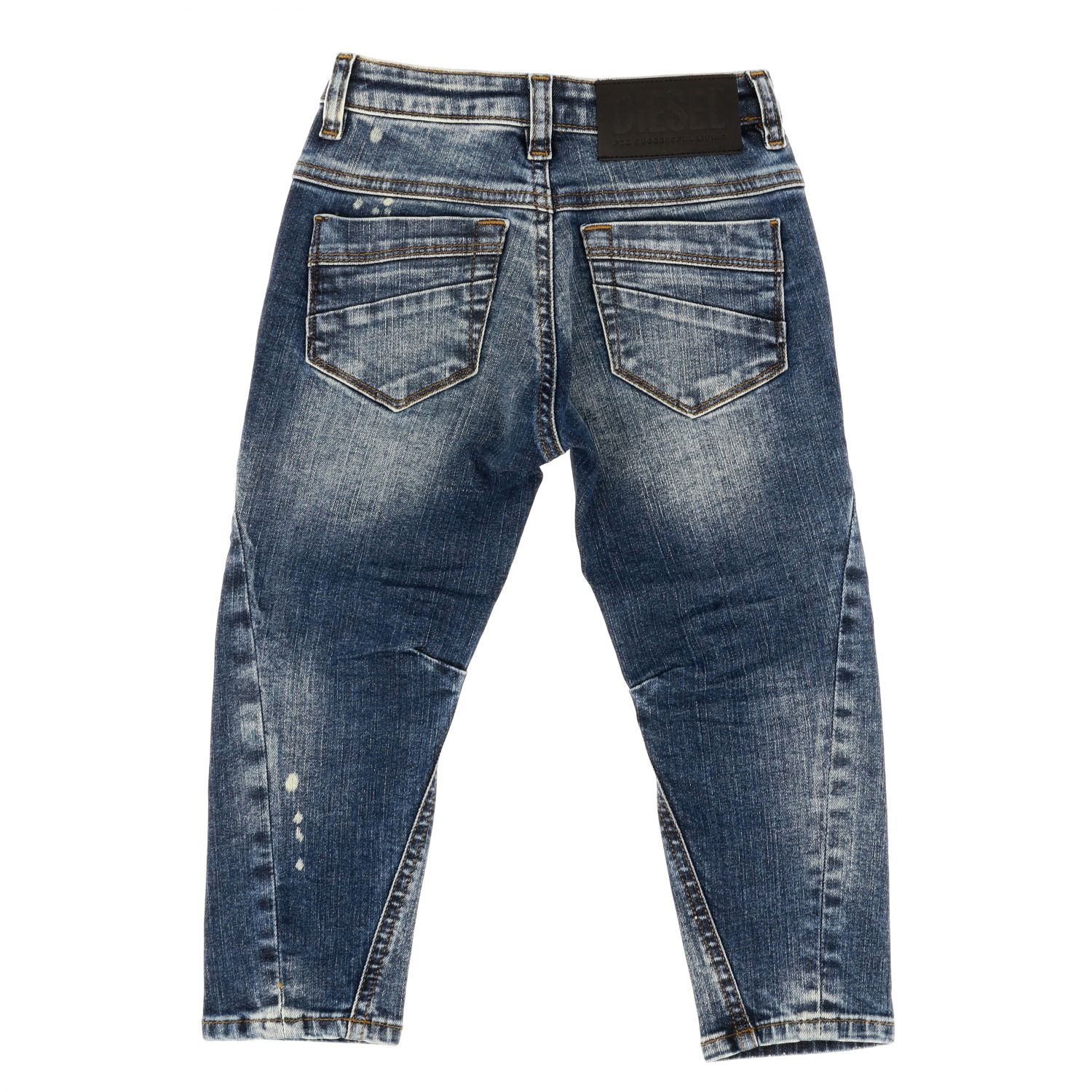 Diesel jeans in used denim with tears blue 2