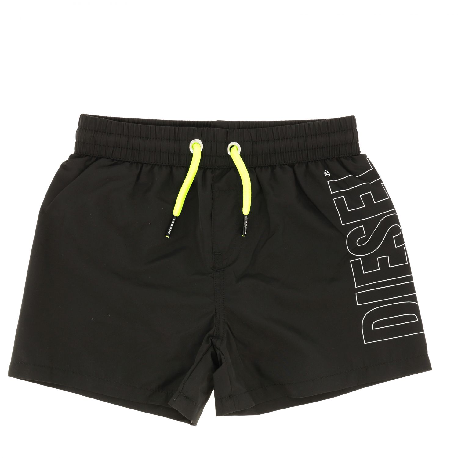 Diesel boxer swimsuit with drawstring and logo black 1