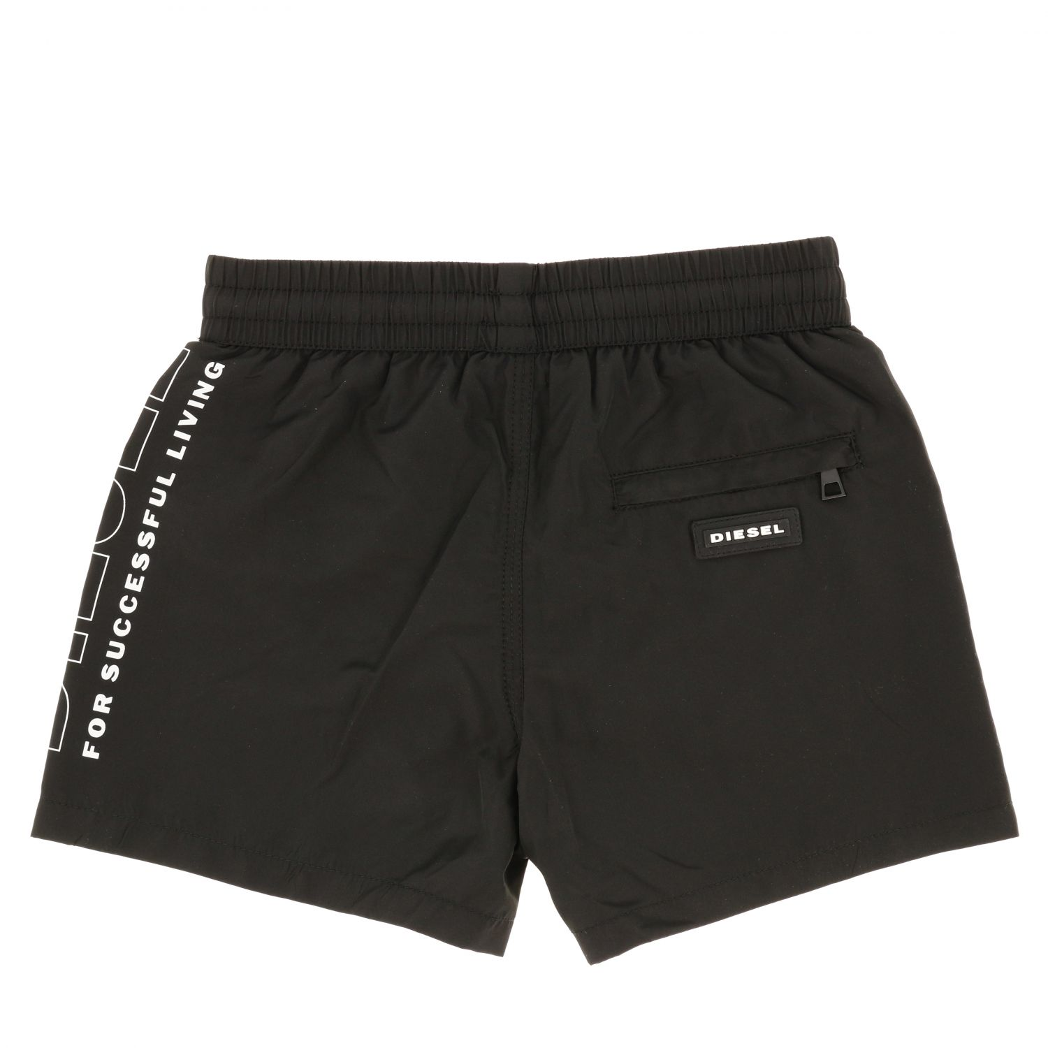 Diesel boxer swimsuit with drawstring and logo black 2