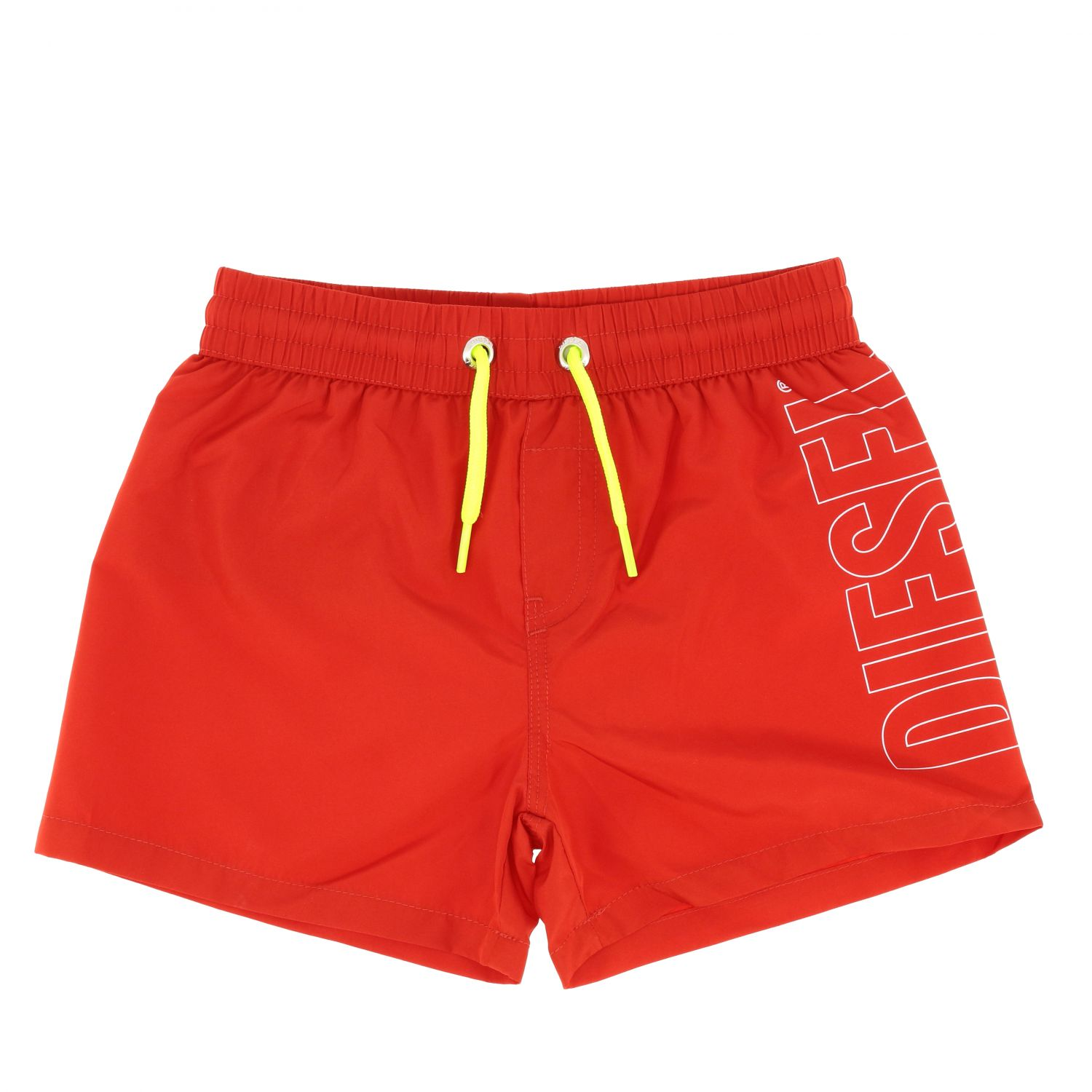 Diesel boxer swimsuit with drawstring and logo red 1