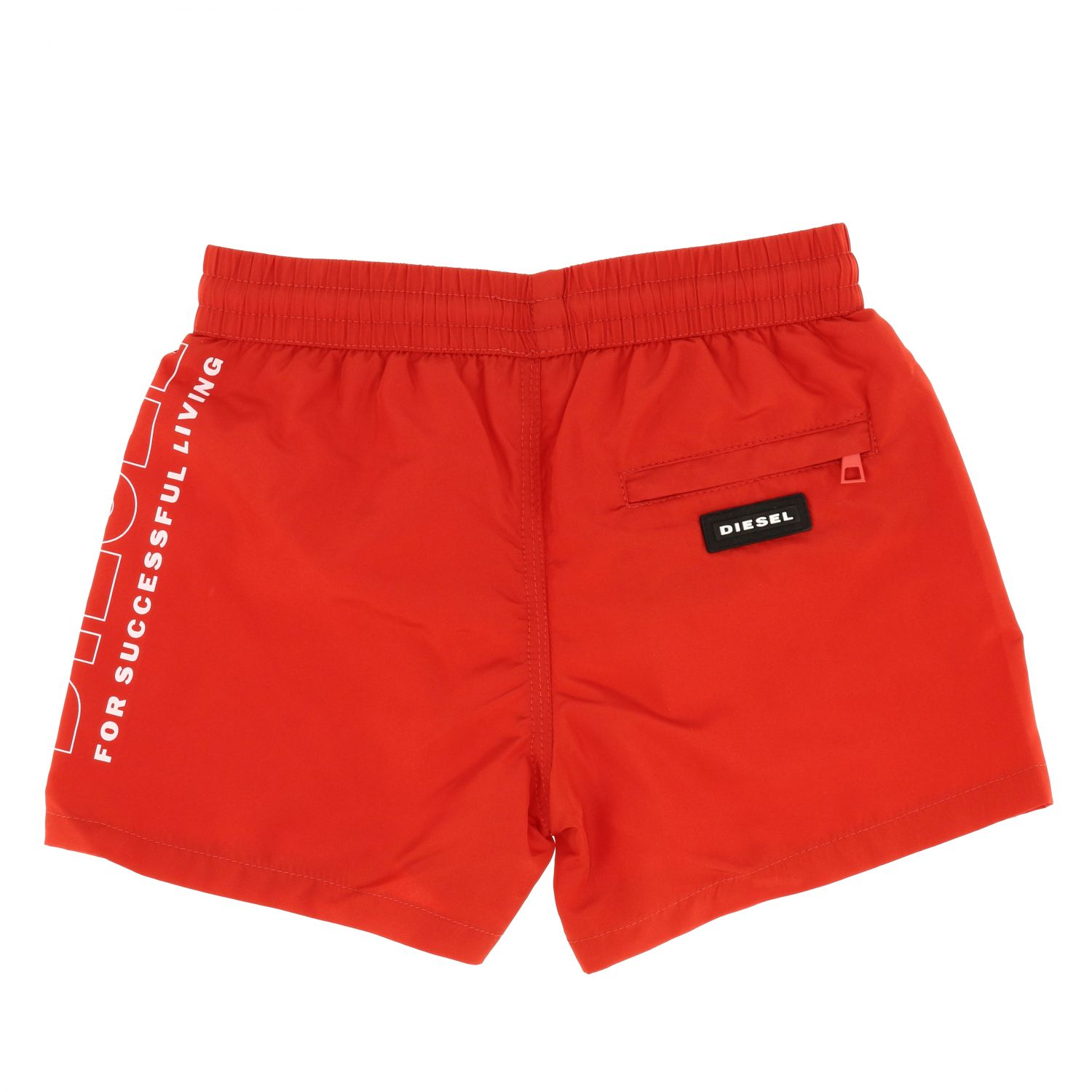 Diesel boxer swimsuit with drawstring and logo red 2