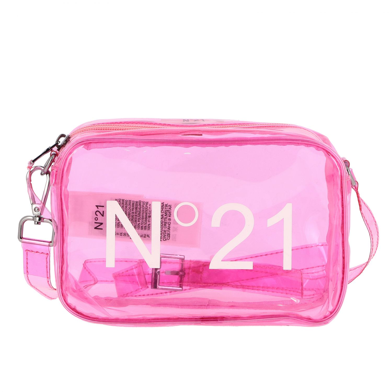 N ° 21 shoulder bag in pvc pink 1